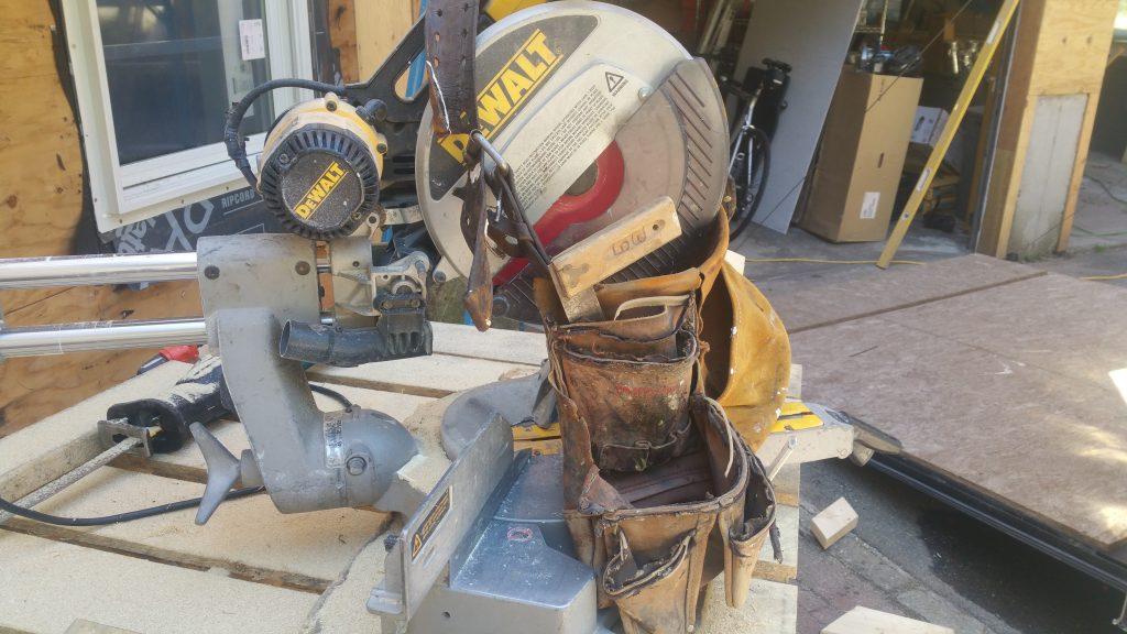 DeWalt Table Saw on Jensen Hus Design Build Job Site