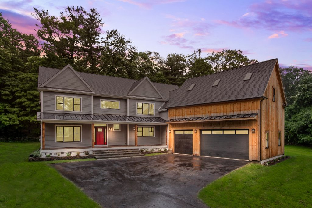 New house built in Sherborn MA by Jensen Hus Design Build