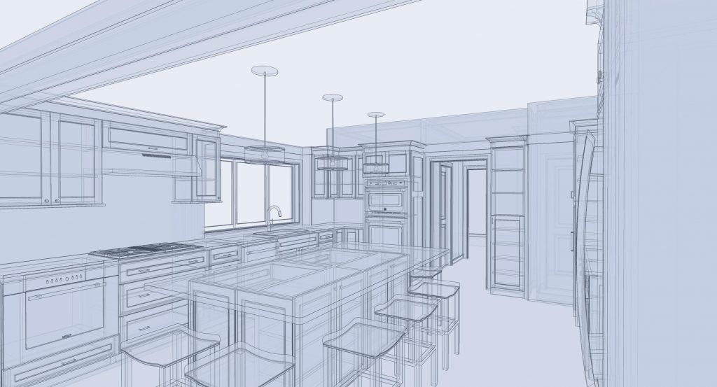 Design Build 3D Sketch Kitchen Plans by Jensen Hus