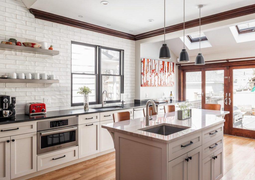 Contemporary Kitchen Remodel in Roxbury MA by Jensen Hus Design Build