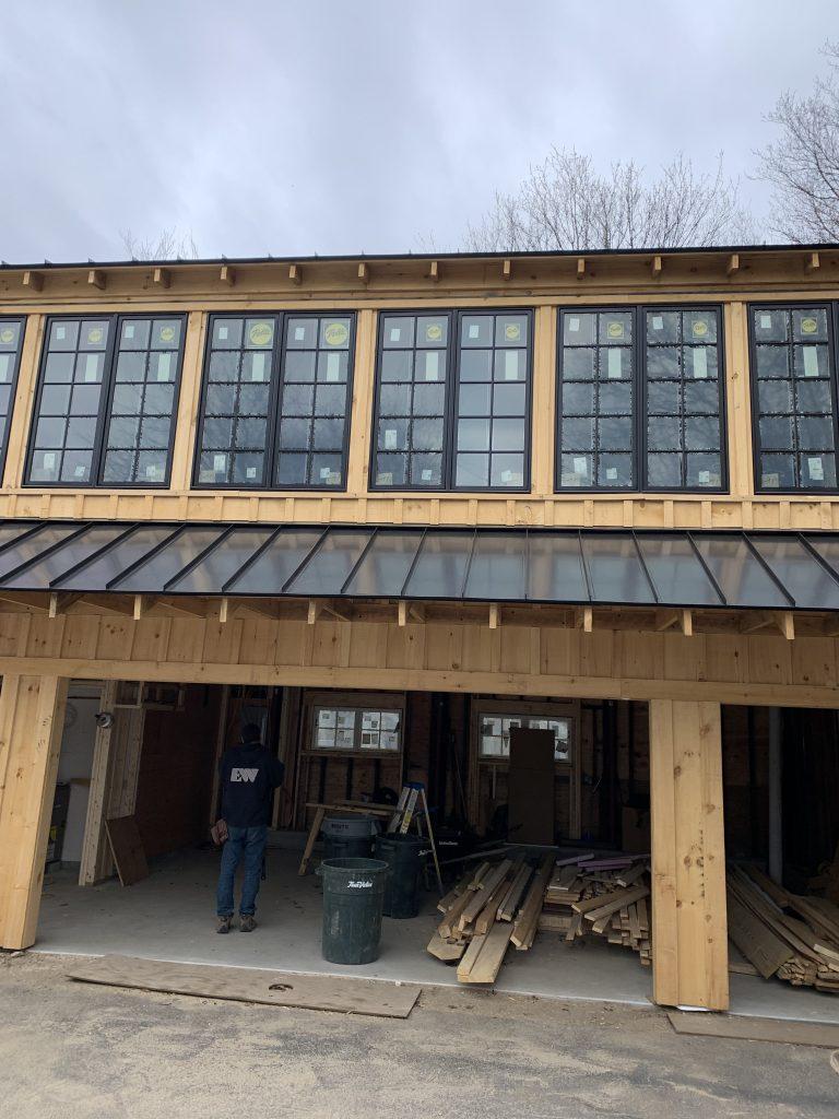 Pella Windows for a Contemporary Barn Project in Sherborn MA
