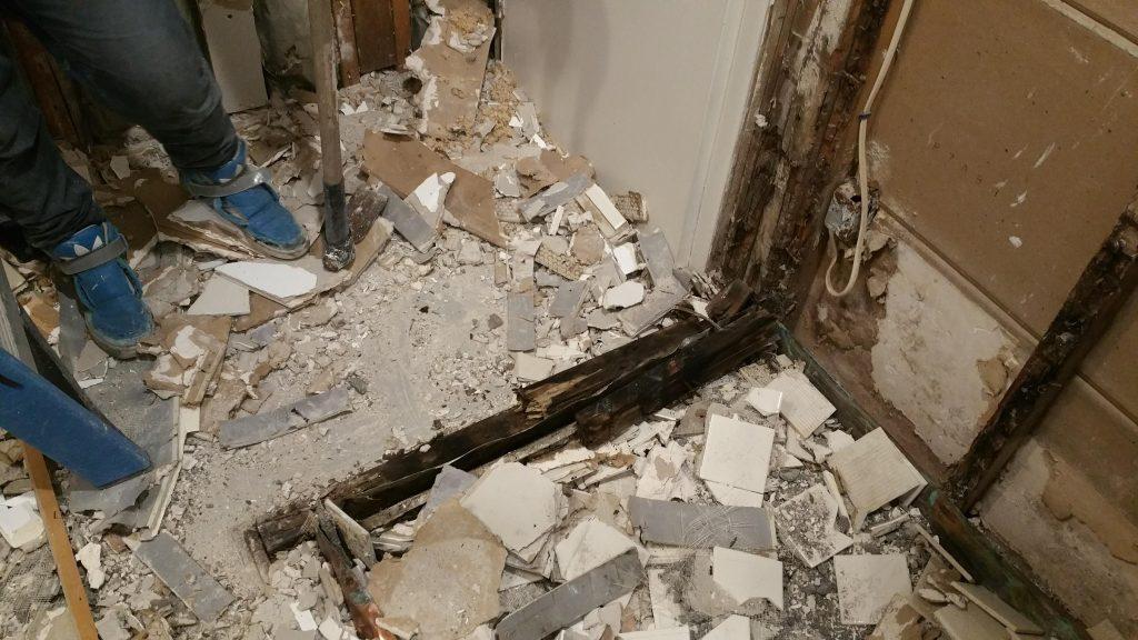 Bathroom Demolition in Newton MA