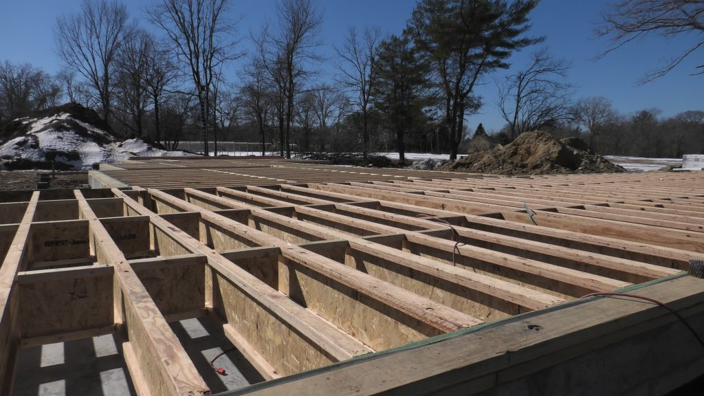 contemporary house floor framing
