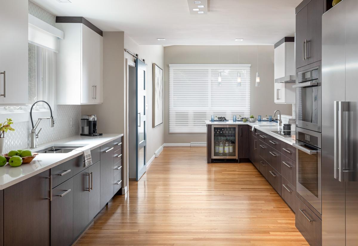 Contemporary Kitchen Remodel Newton MA