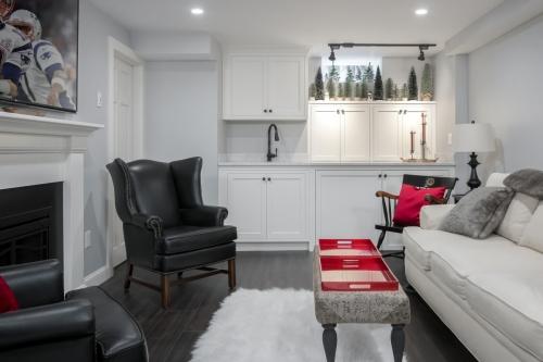 Basement Sink Counters Wellesley Contemporary Design Build
