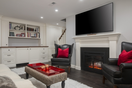 Full Basement Remodel Wellesley Contemporary Design Build