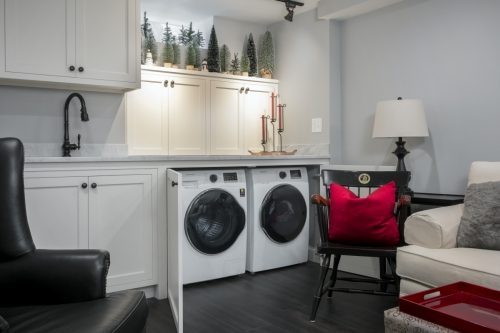 Washer Dryer Wellesley Basement Contemporary Design Build