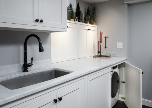 Sink Closeup Wellesley Basement Contemporary Design Build