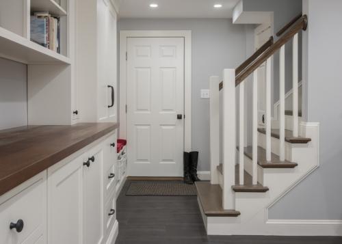 Staircase Wellesley Basement Contemporary Design Build