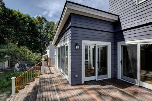 Deck and Glass Doors Watertown MA Contemporary Design Build