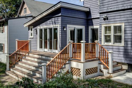 Outdoor Deck off Artist Space Watertown MA Contemporary Design Build