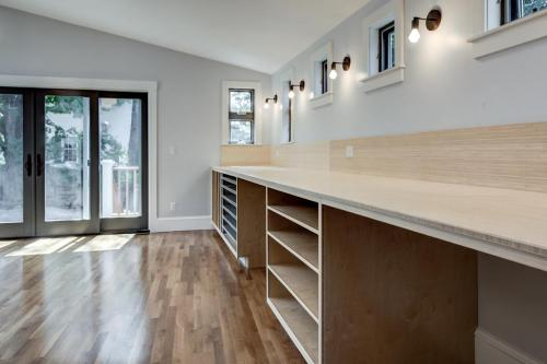 Custom Bamboo Cabinets and Counters Watertown MA Contemporary Design Build
