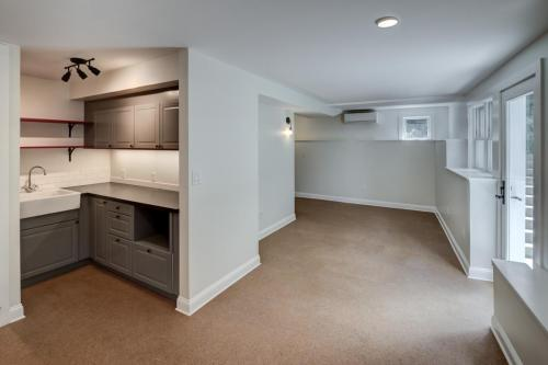 New Garden Level Auxiliary Apartment Watertown MA Contemporary Design Build