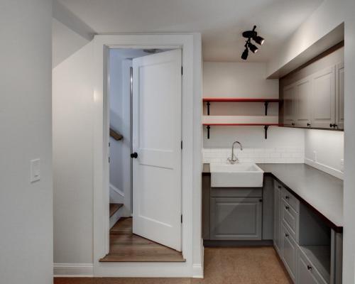 Basement Kitchenette Watertown MA Contemporary Design Build