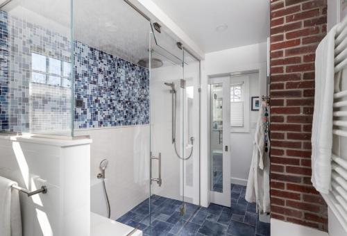 Bathroom Shower Belmont MA Contemporary Design Build
