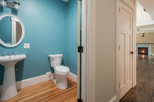 Downstairs Bathroom Contemporary Design Sherborn MA