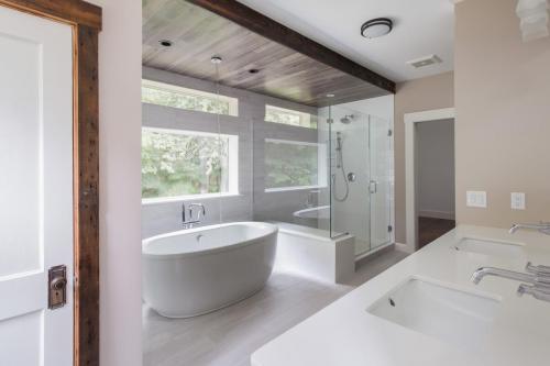 Bathroom Remodel Contemporary Design Sherborn MA