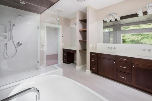 Bathroom Vanity and Shelving Contemporary Design Sherborn MA