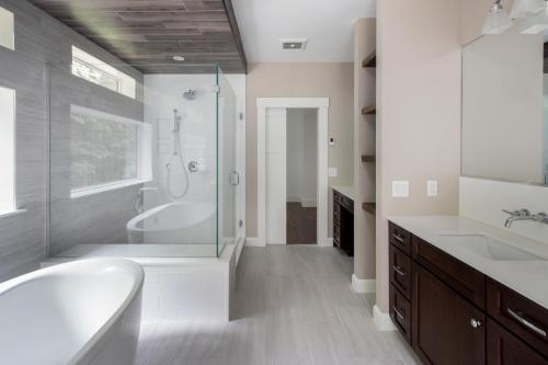 Master Bathroom Contemporary Design Sherborn MA