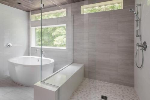 Bathroom Shower Contemporary Design Sherborn MA