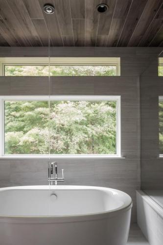 Master Bathroom Window Contemporary Design Sherborn MA