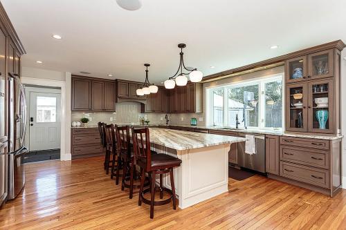 Full Kitchen Remodel Bright Belmont MA Contemporary Design