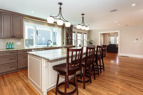 Kitchen Windows Bright Belmont MA Contemporary Design