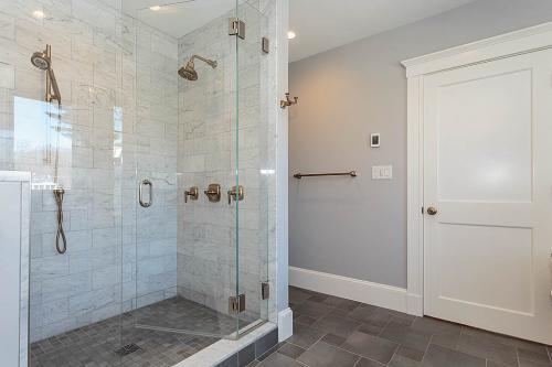 Bathroom Shower Bright Belmont MA Contemporary Design
