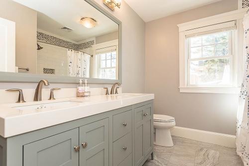 Master Bathroom Bright Belmont MA Contemporary Design