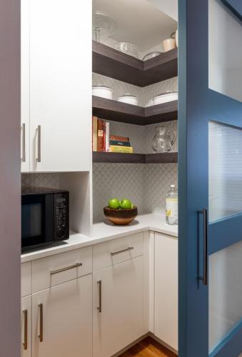 Inside Pantry Contemporary Design Newton MA