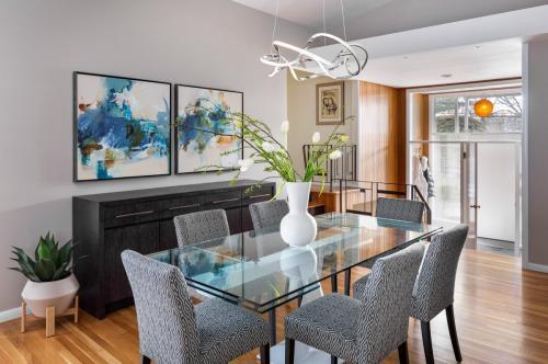 Dining Room Contemporary Design Newton MA