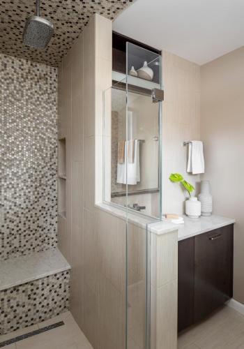 Master Bathroom Shower Contemporary Design Newton MA