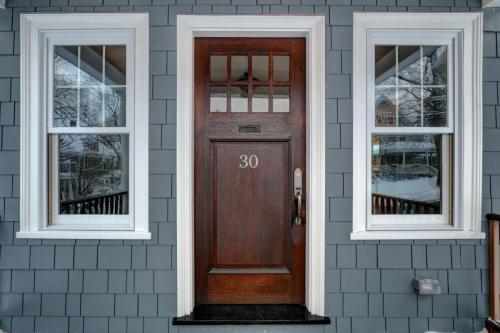 Front Door Bright Belmont MA Contemporary Remodel