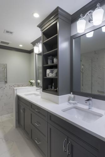 Master Bathroom Vanity Contemporary Design Acton MA
