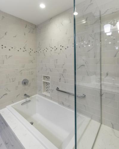 Inside Shower Contemporary Design Acton MA