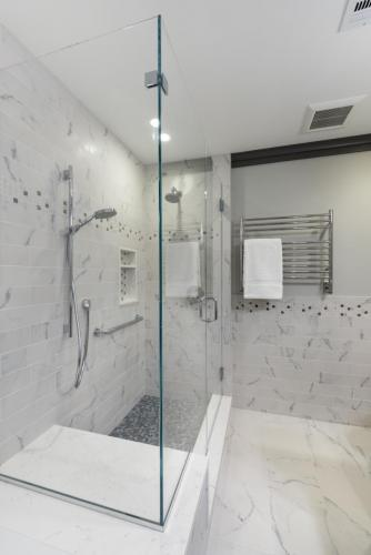 Master Bathroom Shower Contemporary Design Acton MA