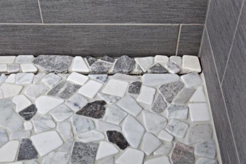 Shower Tile Contemporary Design in Weston MA