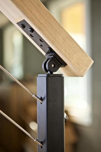 Close Up of Cable Rail Railing