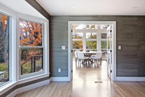 Dining Room Contemporary Design in Weston MA
