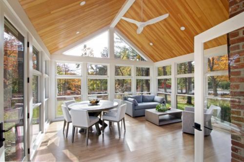 Sunroom Contemporary Design in Weston MA