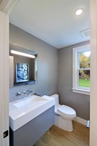 First Floor Bathroom Contemporary Design in Weston MA