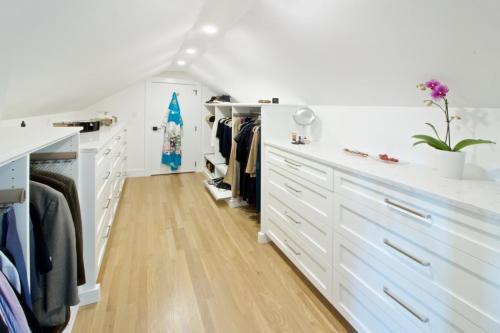 Walk In Closet Contemporary Design in Weston MA