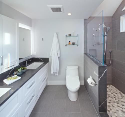 Master Bathroom Contemporary Design in Weston MA