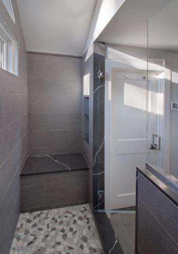 Inside Shower Contemporary Design in Weston MA
