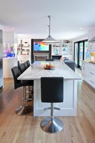 Kitchen Island Contemporary Design in Weston MA