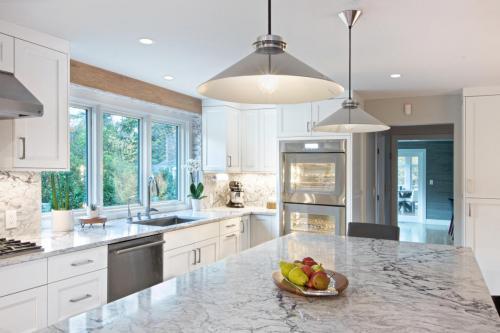 Full Kitchen Remodel Contemporary Design in Weston MA