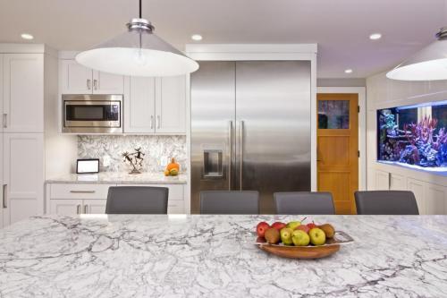 New Appliances Kitchen Remodel Contemporary Design in Weston MA