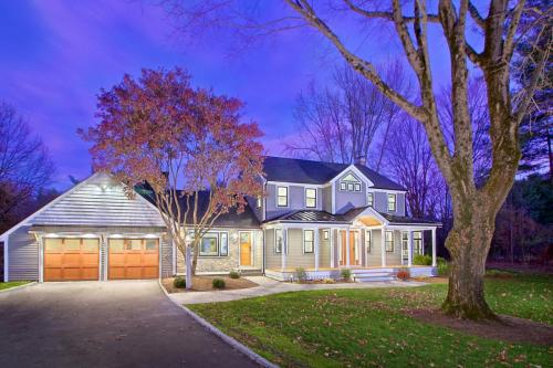 Full Finished Contemporary Design Home in Weston MA