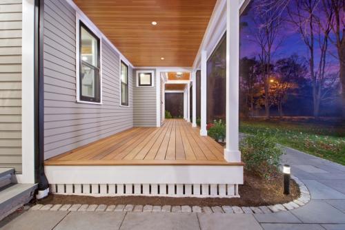 Closeup Front Porch in Weston MA