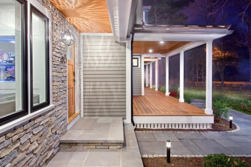 Front Porch Contemporary Design in Weston MA